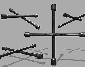 3D asset Lug Wrench