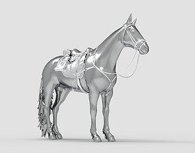 3D model knight Horse