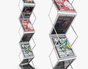 Folding Brochure Stand 3D