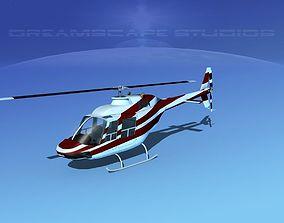 3D model Bell 206 JetRanger V02