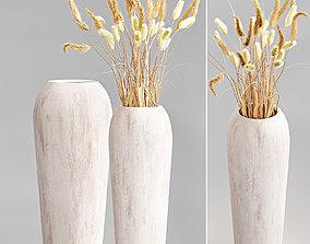 Pottery Barn wood vases 3D