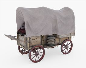 3D asset Covered Wagon