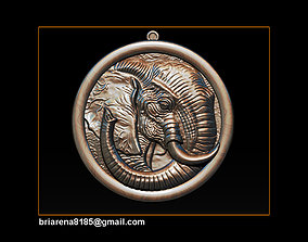 Elephant pendant Jewelry 3D print model