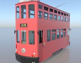 3D model Hong Kong Tram 9 Different Colors PBR