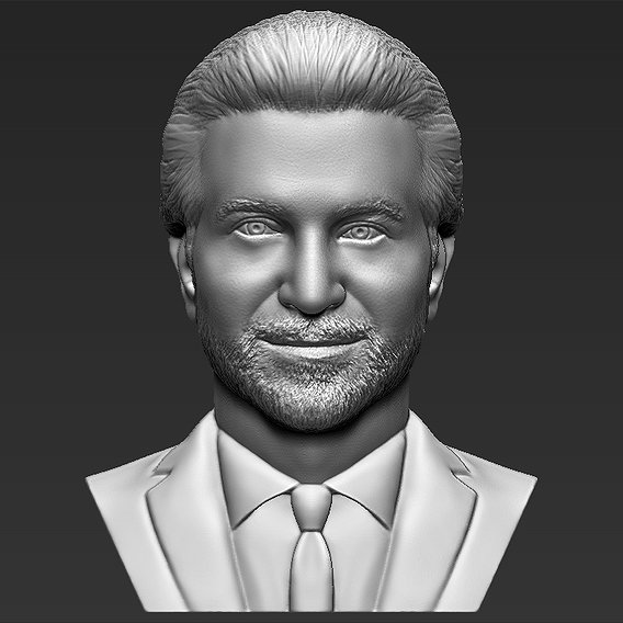 Bradley Cooper bust for 3D printing