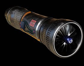 Turbine 3D model animated realtime