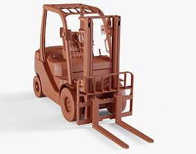 Forklift Truck transporter 3D model game-ready