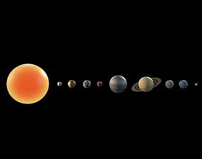 Solar System - Cinema 4D 3D model saturn