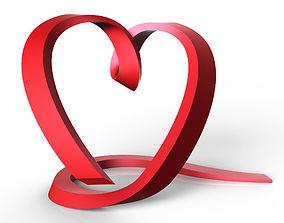 Ribbon Heart 3D print model