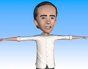 cartoon jokowi 3D asset