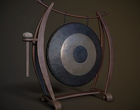 3D model game-ready Chinese Gong