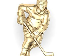 3ds 3D print model hockey player