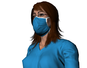 3D asset a nurse Doctor therapist medic standard pose