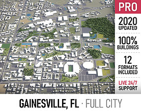 3D asset Gainesville - Florida - city and surroundings