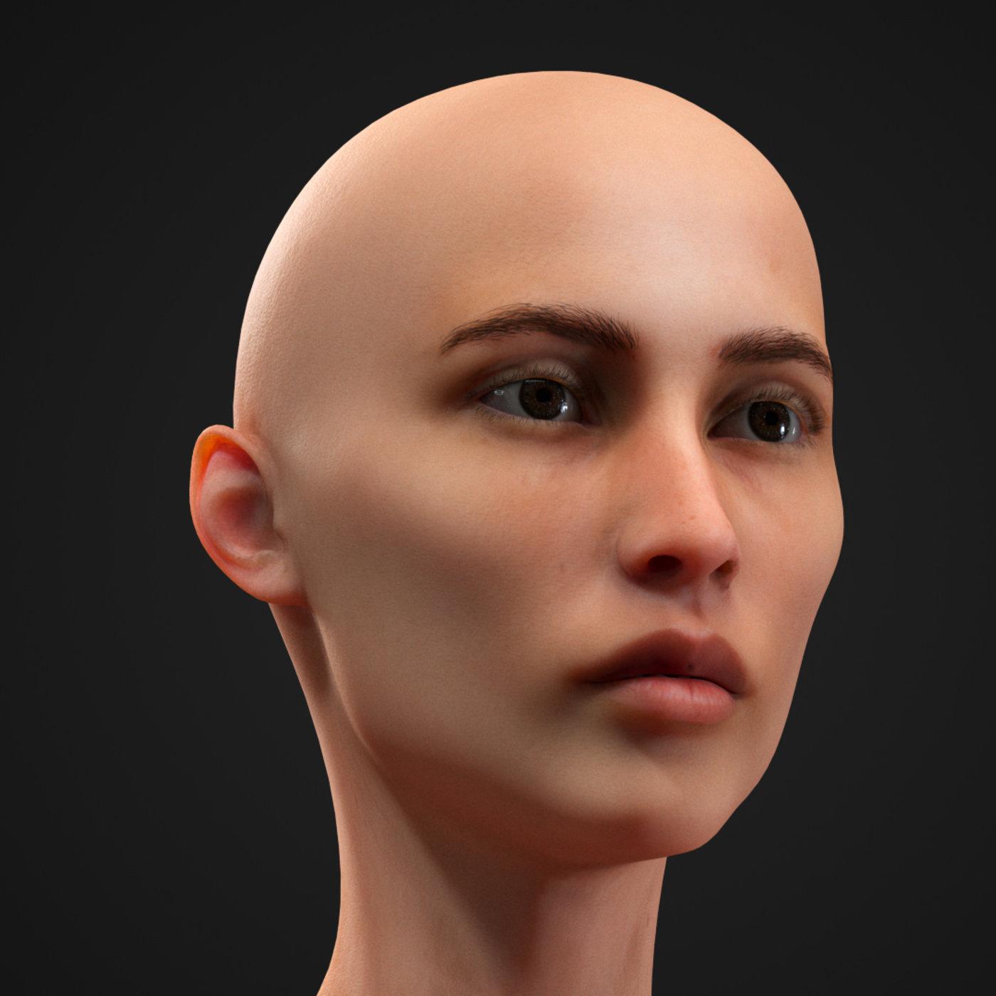 Skinny woman 3d model
