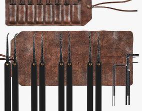 Lockpicks set 3D model