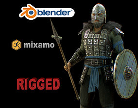 3D asset rigged viking 4