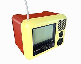 3D model RETRO ANTIQUE TELEVISION Low Poly