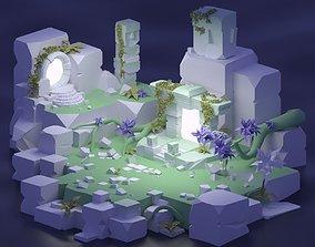 3D asset Ancient Portals - Ancient environment PART2