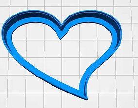 3D print model cookie cutter heart