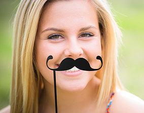 Mustache Mustache Stick 3D printable model
