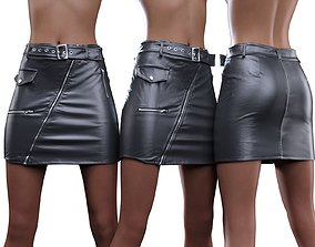 3D Belted Skirt