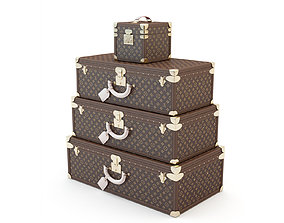 Suitcase Louis Vuitton 3D model