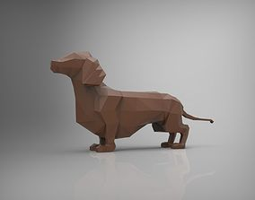 Low poly dog model 3D print model