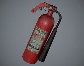 3D asset realtime PBR Fire Extinguisher