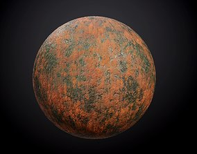 Metal Steel Rusted Green Red Seamless PBR Texture 3D