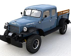 3D model DODGE POWER WAGON CREW CAB 1946