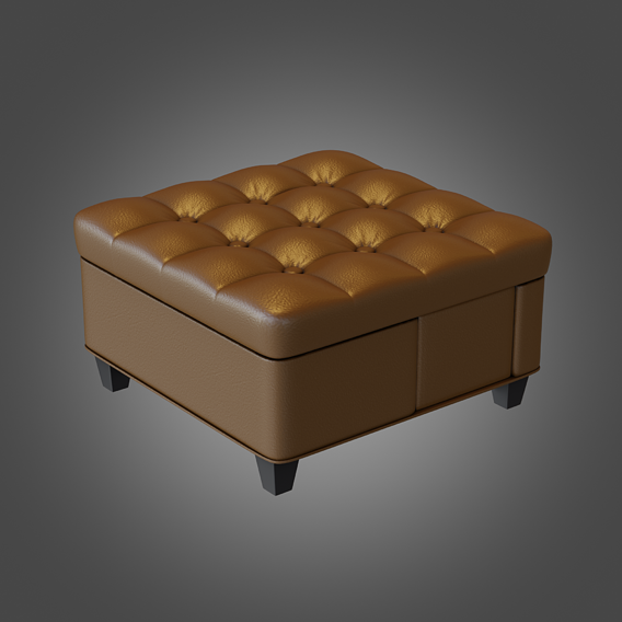 Puff Coffee Table Brown Pbr Subdivision Ready