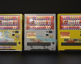 Japanese Style Vending Machine 3D model