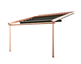 3D model Motorized Pergola 5 copper matte outdoor