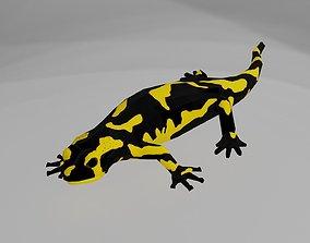 Low poly salamander 3D model