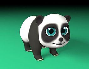 3D model animated Cartoon panda