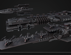 3D Spaceship collection future