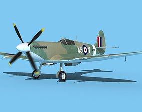 3D Supermarine Spitfire MkXII V04
