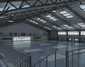 Warehouse interior and exterior 3d model