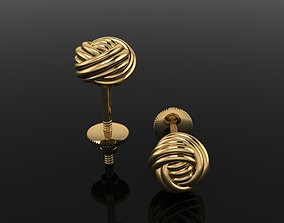 3D printable model Rope Knot Ball Earring SIZE 6mm