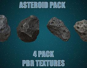 3D asset Asteroids- Meteorite 4 pack
