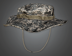 3D asset Military Hat 02 - PBR Game Ready
