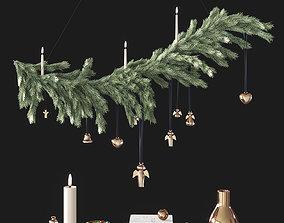 3D PBR Christmas decorative set
