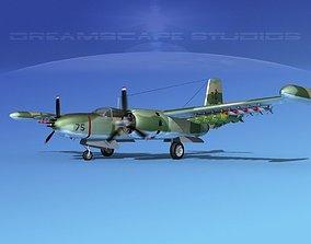 3D model Douglas A-26K Invader USAF Vietnam 2