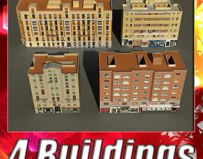 Building Collection 101-104 3D asset