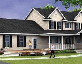 3D Tan House