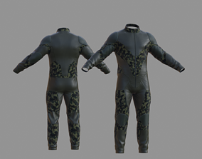 Military suit Mid-poly 3D model VR / AR ready