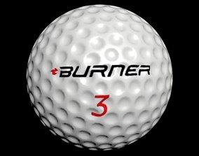 golf ball 3D asset low-poly