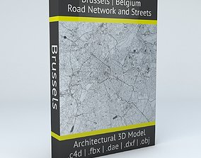 Brussels Road Network and Streets 3D model