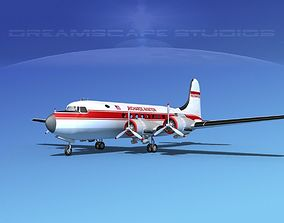 3D Douglas DC-4 Richards Aviation